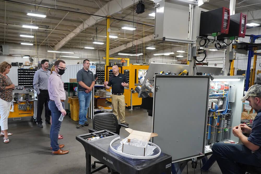 Precision Dispense Technologies demonstrating robots